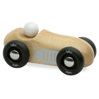 Mini Old Sports Car - Natural Wood