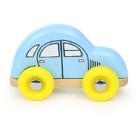 Blue Wooden Mini Toy Car