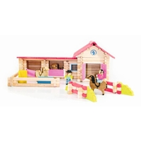 Poney Club - 180 Piece Wooden Construction Set