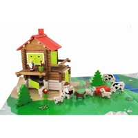 Mountain Chalet - 175 Piece Wooden Construction Set