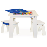 P'kolino Chalk Table and Benches - Cobalt