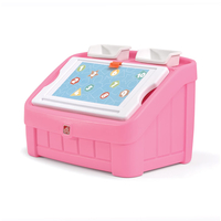 2-in-1 Toy Box & Art Lid - Pink