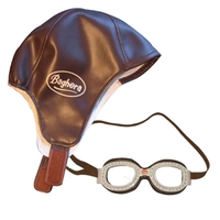 Vintage Racing Cap and Goggles by Baghera