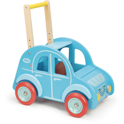 Retro Wooden Toy Car Pusher & Walker