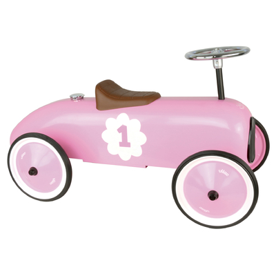 Pink Ride On Classic Toy Car by Vilac