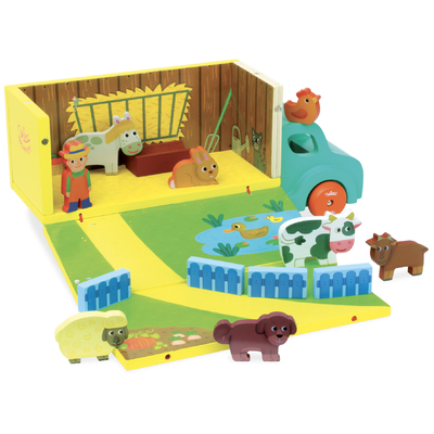 Wooden Farm Set in Truck